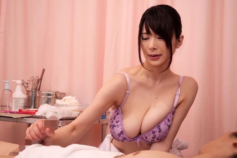 【DMM】お願いを断れず献身的なパイズリ挟射で性処理してくれる巨乳看護師